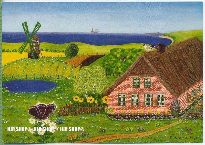 WIECHMANN – BILDKARTEN GUNDULA UHLIT, Landschaft in Ostfriesland, Nr.5106