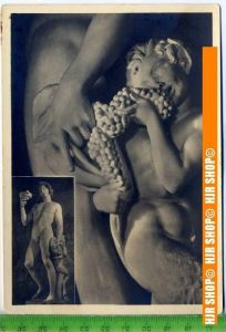 """""""Michelangelo, Trunkener Bacchus"""", um 1950/1960  Ansichtskarte  ungebrauchte Karte"""