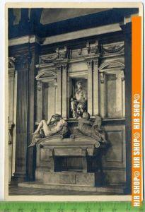 """""""Michelangelo, Grabmal des Giuliano Medici"""", um 1950/1960  Ansichtskarte  ungebrauchte Karte"""