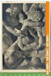 """""""Michelangelo, Kentaurenschlacht"""", um 1950/1960  Ansichtskarte  ungebrauchte Karte"""