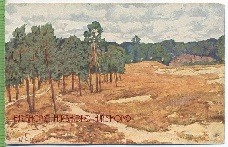 Wohlgemuth&Lissner, Primus-Postkarte Nr.3073, Heidetag, Prof. W. Leistikow  Verlag:  Postkarte unbenutzte Karte ,  Erhal