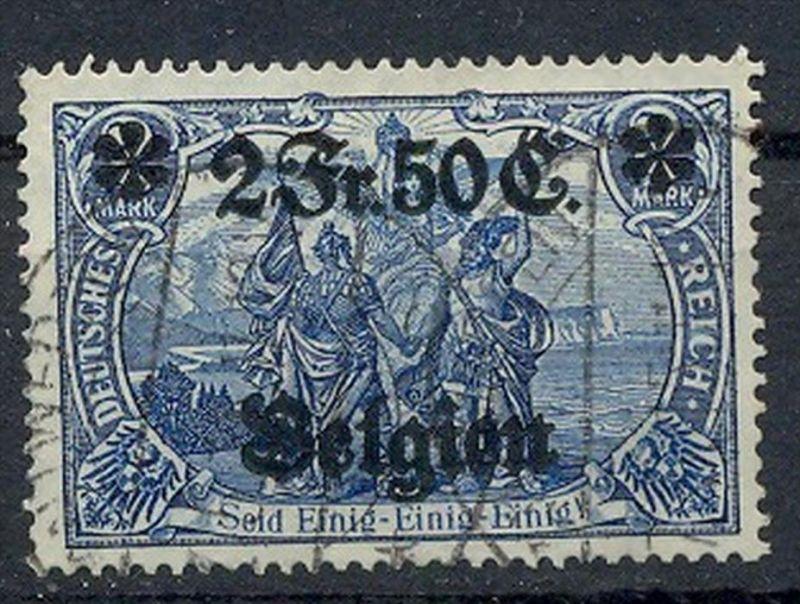 1914 Belgien, Freimarken mit  Bedr. Aufdruck.,  MiNr. 9 Gest,    Zustand: I-II