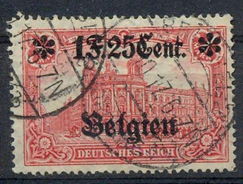 1916 Belgien, Freimarken mit  Bedr. Aufdruck.,  MiNr. 23A Gest,    Zustand: I-II