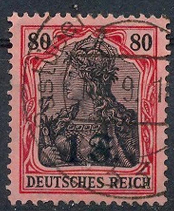 1916 Belgien, Freimarken mit  Bedr. Aufdruck.,  MiNr. 22 Gest,    Zustand: I-II