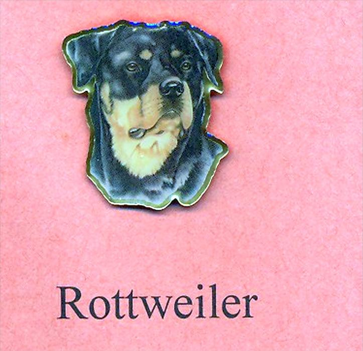 Hunde – Pins ROTTWEILER Maße: Höhe ca. 2,5 cm Zustand: Neu