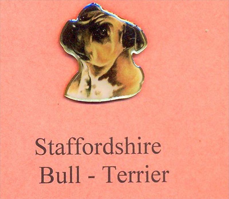 Hunde – Pins STAFFORDSHIRE BULL - TERRIER Maße: Höhe ca. 2,5 cm Zustand: Neu