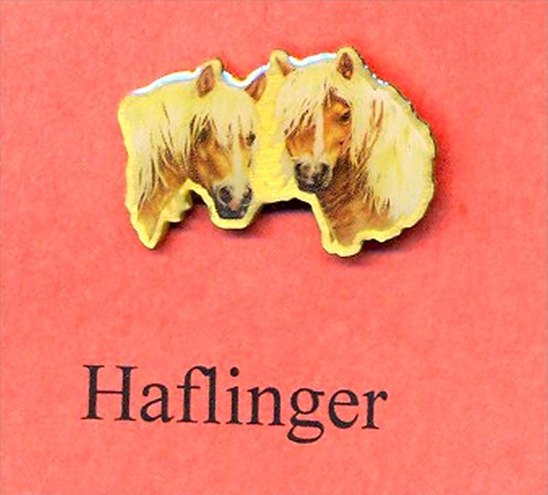 Pferde – Pins HAFLINGER Maße: Höhe ca. 2,5 cm Zustand: Neu