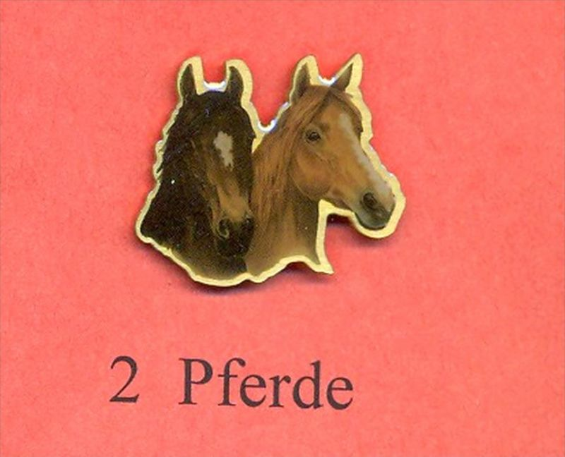 Pferde – Pins 2 PFERDE Maße: Höhe ca. 2,5 cm Zustand: Neu