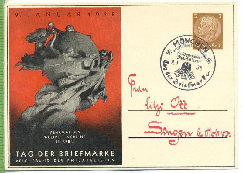 Tag der Briefmarke, 9. Januar 1938 Zustand: I-II