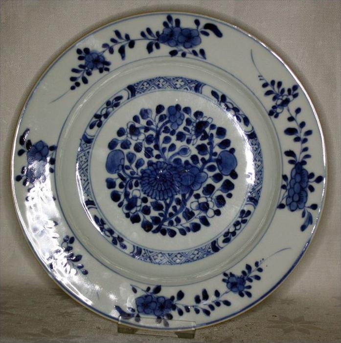 China Porzellanteller Quianlong 1736-1795.