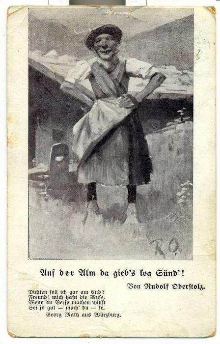 Postkarte, Spaßkarte um 1900