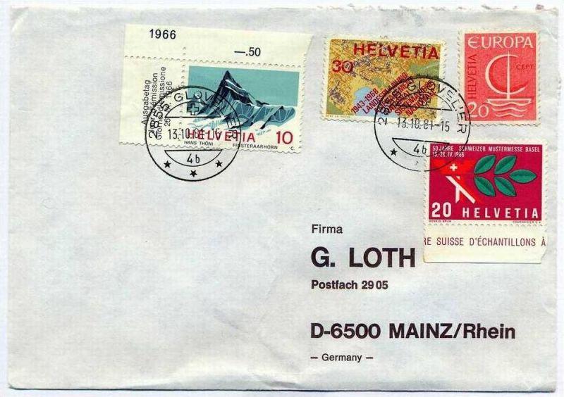 Brief, 13.10.1981, Glovelier – Mainz,
