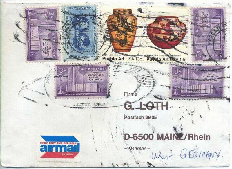 Luftpost-Brief, 00.00.1981, NEW YORK – Mainz,