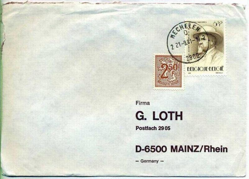 Brief, 21.09.1981, MECHELEN – Mainz,