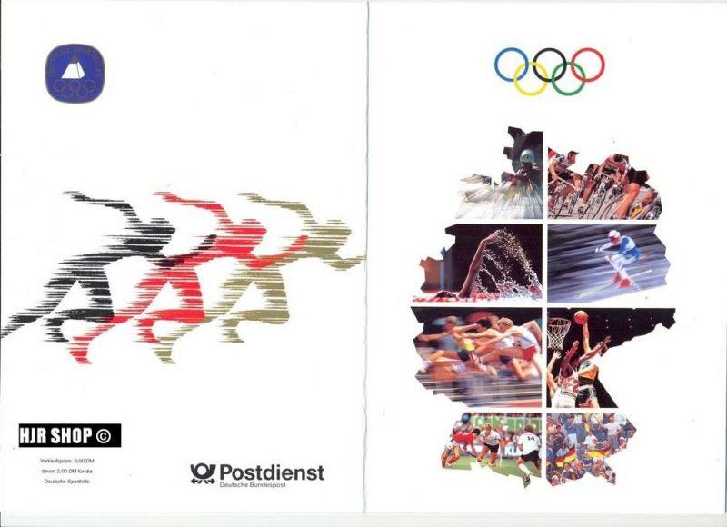1992, 6. Febr.Sporthilfe, MiNr. 1592-1595 Zustand: Gut