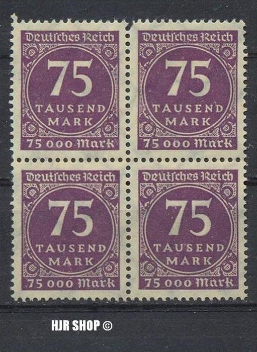 1923.15./20. Sept.. Ziffern im Kreis,  MiNr.276**  4er Block , Zust. Gut