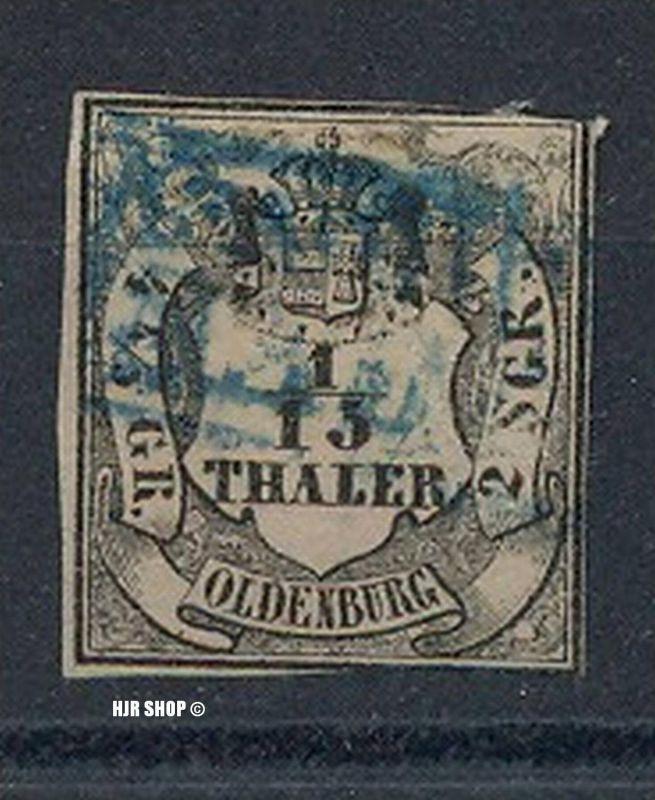 1852, 5.Jan./1859. Freimarken: Oldenburgisches Hauswappen mit Krone über Wertschild, Minr.3,gest. Guter Zustand