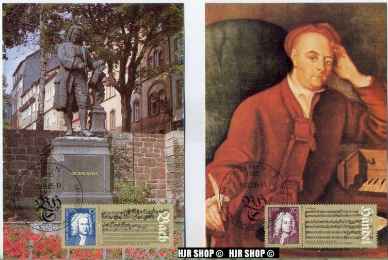 Autor. MC 1985/MiNr.2931-2933/19.03.1985, Bach-Händel-Schütz-Ehrung