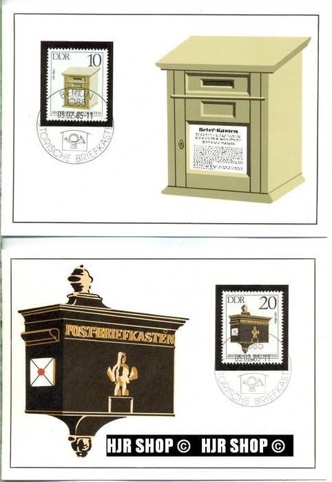 amtl. MC 1985 /1-4/5.02.1985,Historische Briefkästen
