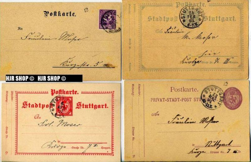 Stadt- und privatpost Stuttgart1893-1917 DeutschesReich