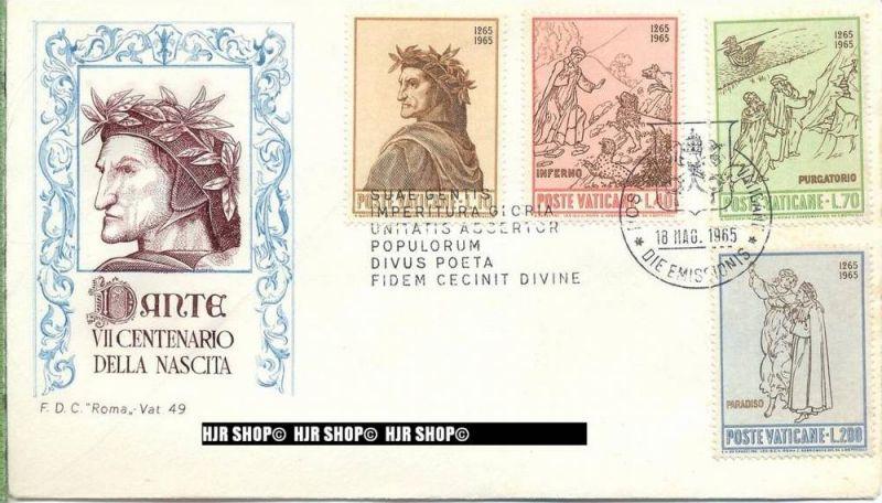 1965, FDC, Dante, 477-480 gest