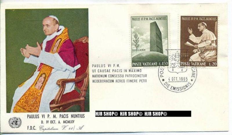 1965, FDC, Vereinte Nationen, 483-486 gest