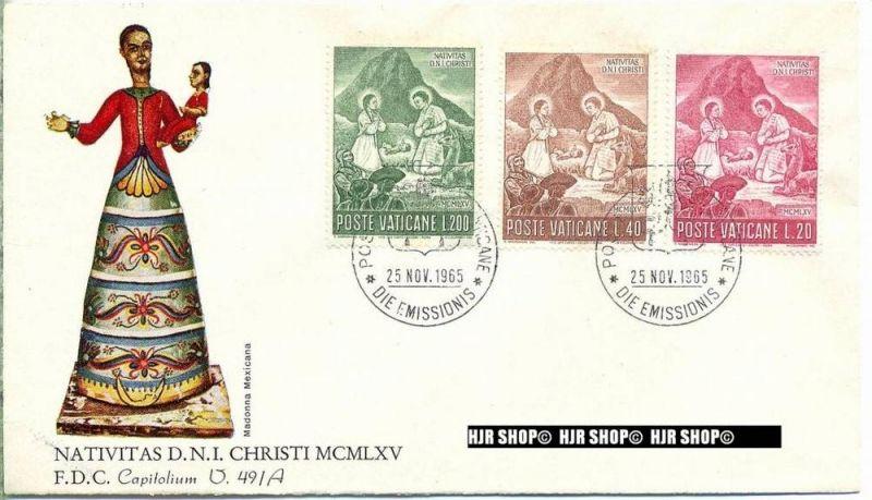 1965, FDC, Weihnachten,487+488+489 gest