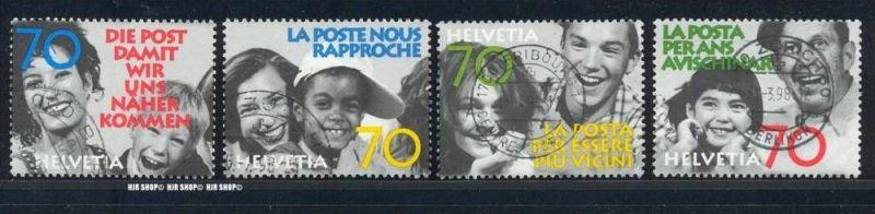 1997,Die Post, Minr. 1625-128 gest., Satz 4 W