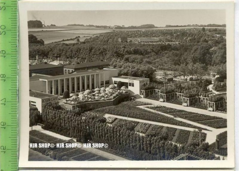 Essen, Grugapark, ca. 1930/1940,  Sammelfoto 9,2 x 7 cm,  Blick vom Radioturm