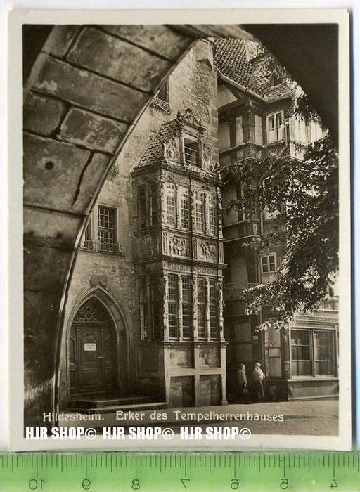 Hildesheim, ca. 1930/1940,  Sammelfoto 9,2 x 7 cm,  Erker des Tempelherrenhauses