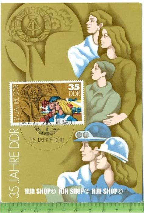 1984, Amtliche Maximumkarte mit 2901 (1/84)