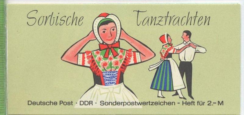 1971, Sorbische Tanztrachten, MH.- MiNr. 5 **  Deckblatt teilw. gelöst   Zustand: I-II