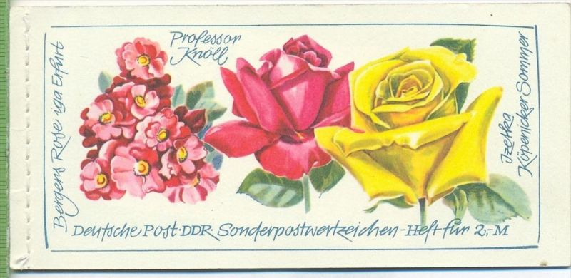 1972, Rosenausstellung, MH.- MiNr. 6 I **   Zustand: I-II