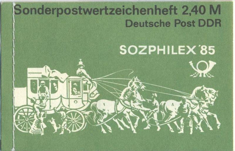1985, Sozphilex`85, MH.- MiNr. 8 **   Zustand: I-II