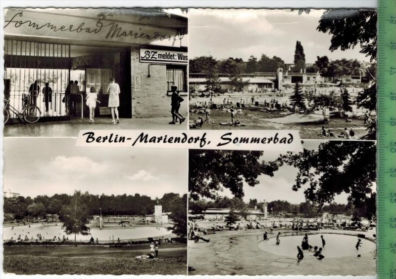 Berlin-Mariendorf, Sommerbad  um 1970/1980 Verlag: Ursula Horning,  POSTKARTE,  mit Frankatur, mit Stempel, BERLIN 8.8.7