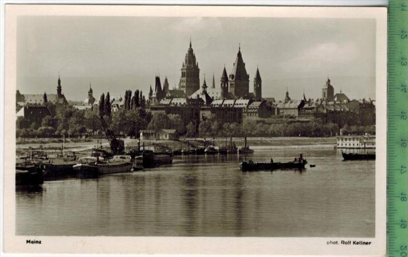 Mainz. Dom, Blick vom Rhein  um 1950/1960 Verlag: J. Velten, Karlsruhe Nr. 3822 ,  POSTKARTE Erhaltung: I-II,  Karte wir