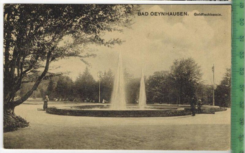 Bad Oeynhausen, Goldfischbassin  um 1910/1920 Verlag: Fritz Scherer, Bad Oeynhausen Nr. 18498 ,  POSTKARTE Erhaltung: I-