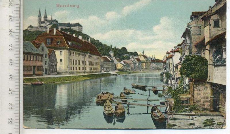 BAMBERG, um 1910, Verlag: Eigentum Gebr. Metz, Postkarte mit Frankatur, mit 2 Stempeln, Bamberg 11.10.10 Erhaltung: I-II
