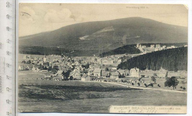 Kurort Braunlage, um 1905 Verlag: Franz Senger, Postkarte mit Frankatur, mit Stempel, Braunlage 4.9.06 Erhaltung: I-II