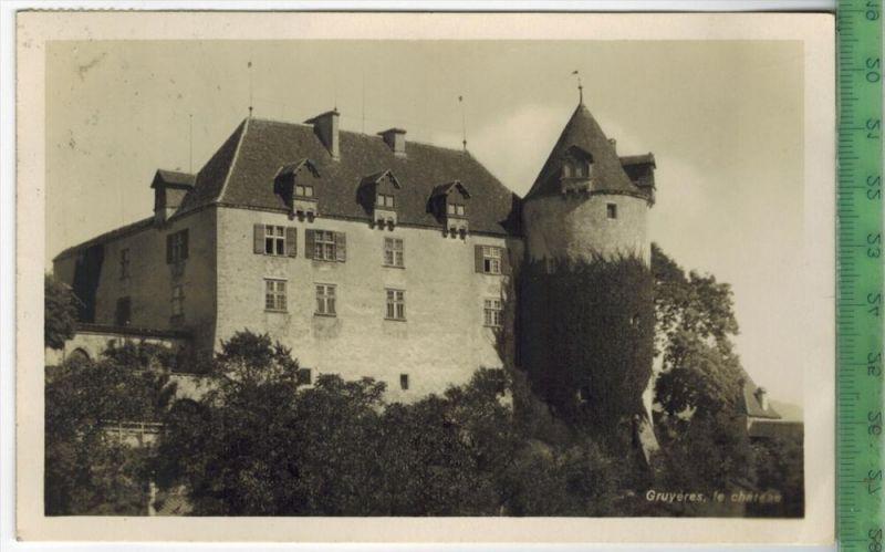 Gruyeres, le chàteau Verlag: S. Glasson, Postkarte Mit MiNr.203 senkr.. Paar Frankatur und Stempel GRUYERES  27.X.27 MIT
