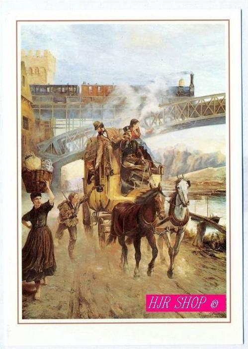 Post und Eisenbahn bei Koblenz, um 1865,  500 Jahre Post