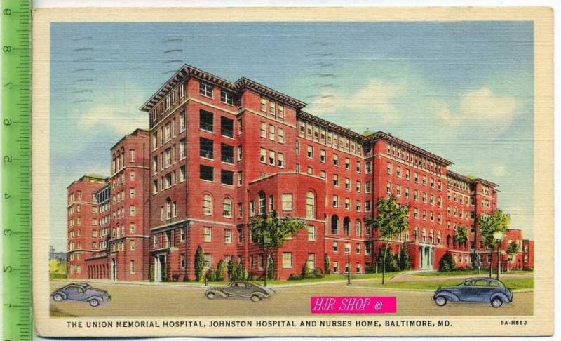 The Union Memorial Hospital,  Johnston hospital And Nurses Home, Baltimore,MD. Gel. 1.08.1939 / Baltimore,MD. kl. Format