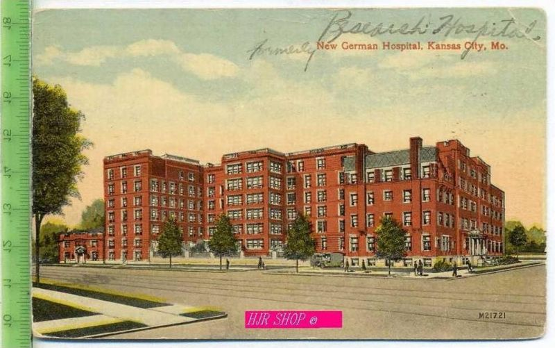 New German Hospital, Kansas City, MO. Gel. 4.07.1918 / Kansas, City