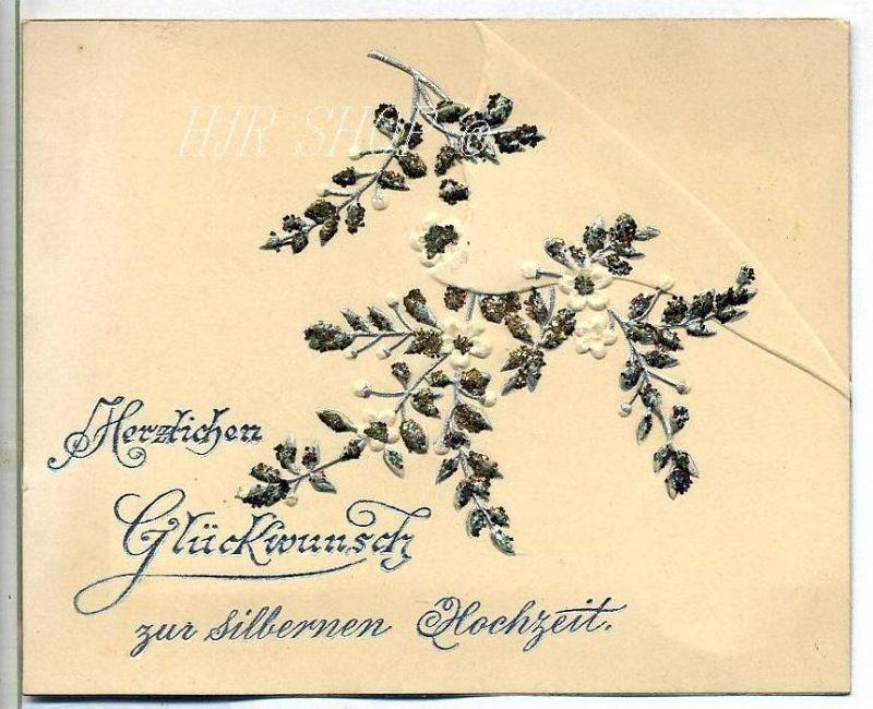 Hochwertige Glückwunschkarte zur Silberhochzeit,