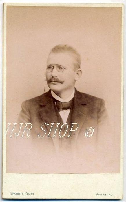Spalke & Kluge, Augsburg a. D. vor 1900 kl.. Format, s/w., I-II,
