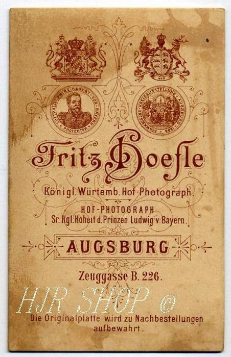 Fr. Hoefle, Augsburg vor 1900 kl.. Format, s/w., I-II, 1