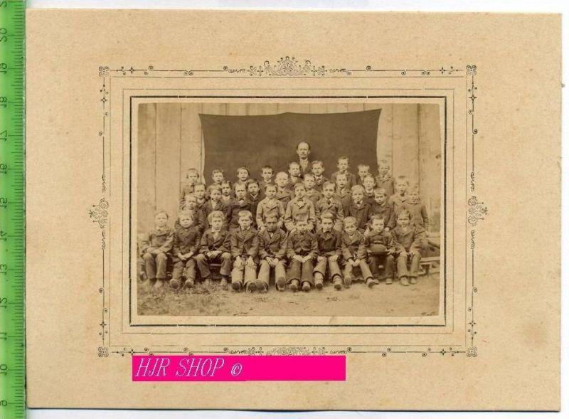 Schulklasse um 1900 Gr. Format, s/w., I-II,