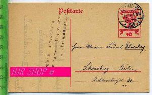 Postkarte, Deutsche Nationalversammlung 1919 Gel.4.12.1919