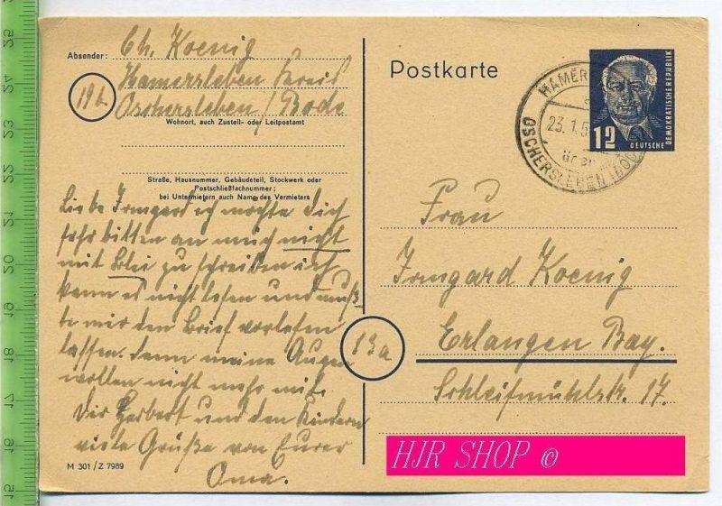 Postkarte, 12 Pf. Pieck-GA-Karte der DDR