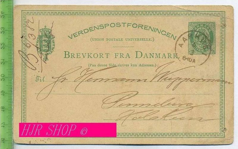 Brevkort Fra Danmark Gestempelt, 6.03.1882, AARHUSI